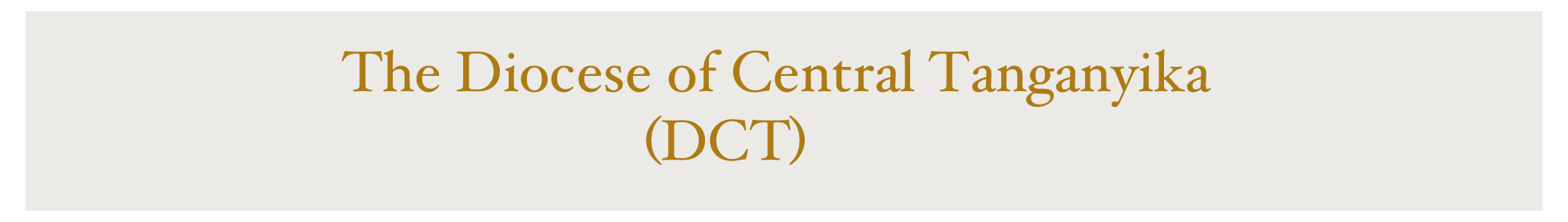 The Diocese of Central Tanganyika 